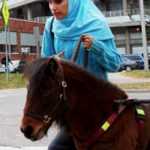 MORE MUSLIM ANIMAL CRUELTY! Because of Muslim hatred for dogs, miniature horses are being used as guide dogs for blind Muslims