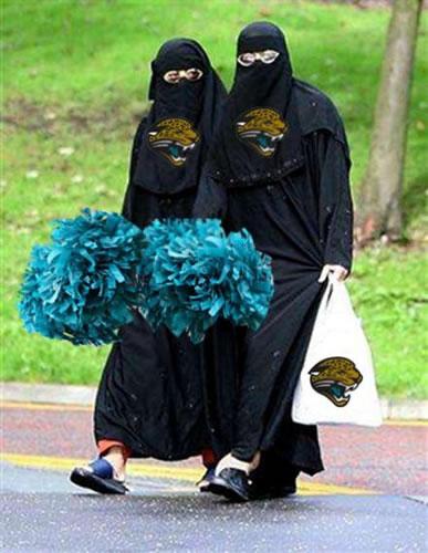 Muslim cheerleader
