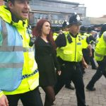 BRITAIN FIRST's outspoken Jayda Fransen confronts a Muslim in the street who tries to tell her there are no passages in the quran that call for the killing of unbelievers