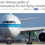 KUWAIT Airlines not only bans Israeli Jews from its planes, it bans Israeli Arabs as well