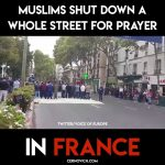 FRANCE: Muslim supremacists continue to lift their asses to allah in the streets, even though it is illegal to do so