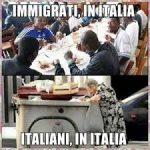 """ITALY: While ungrateful African Muslim invaders complain about """"no wifi"""" and """"bad food,"""" poor and elderly Italians rummage though trash bins for scraps of food"""