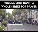 MUSLIM supremacists block a busy street in London for Friday prayers, despite there being two mosques nearby