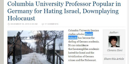 What would happen if a Jewish professor at Columbia University was spreading virulent hatred for Muslims as this Iranian professor at Columbia is spreading hatred for Jews everyday?