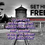 How is British PM Theresa May responding to the transfer of anti-Islam political prisoner, Tommy Robinson, to a prison where 71% of the inmates are violent Muslims?