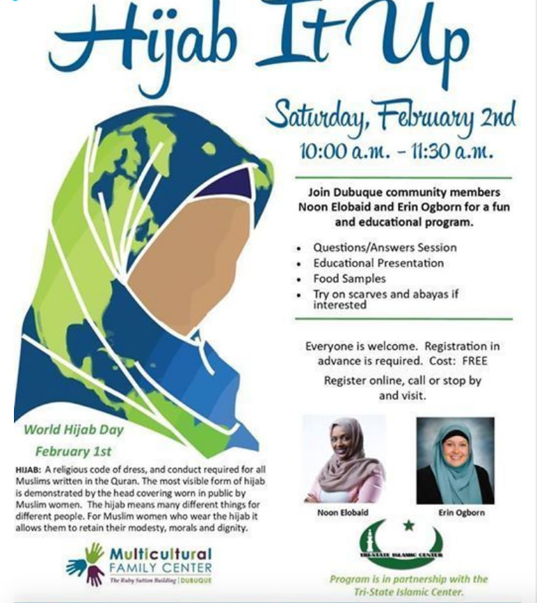 """HEY, IOWA WOMEN…are you going to """"hijab it up"""" on Saturday"""