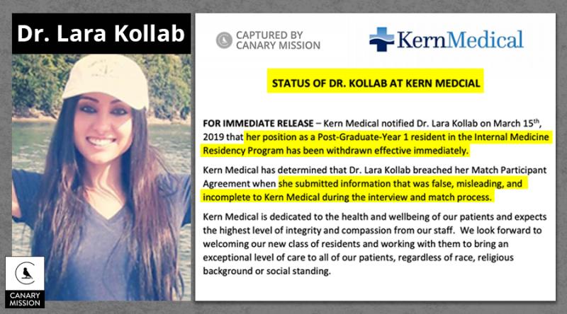 REMEMBER Lara Kollab, the Jew-hating Muslim doctor who got