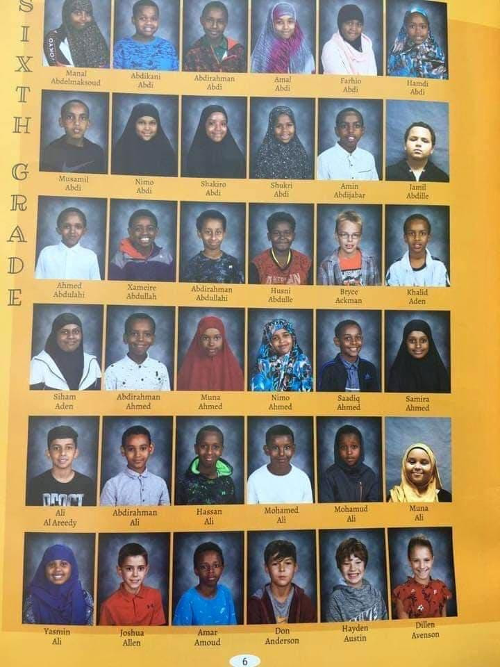 "BEYOND SCARY: What a sixth grade class in Minnesota looks like and these are only the names starting with ""A"""